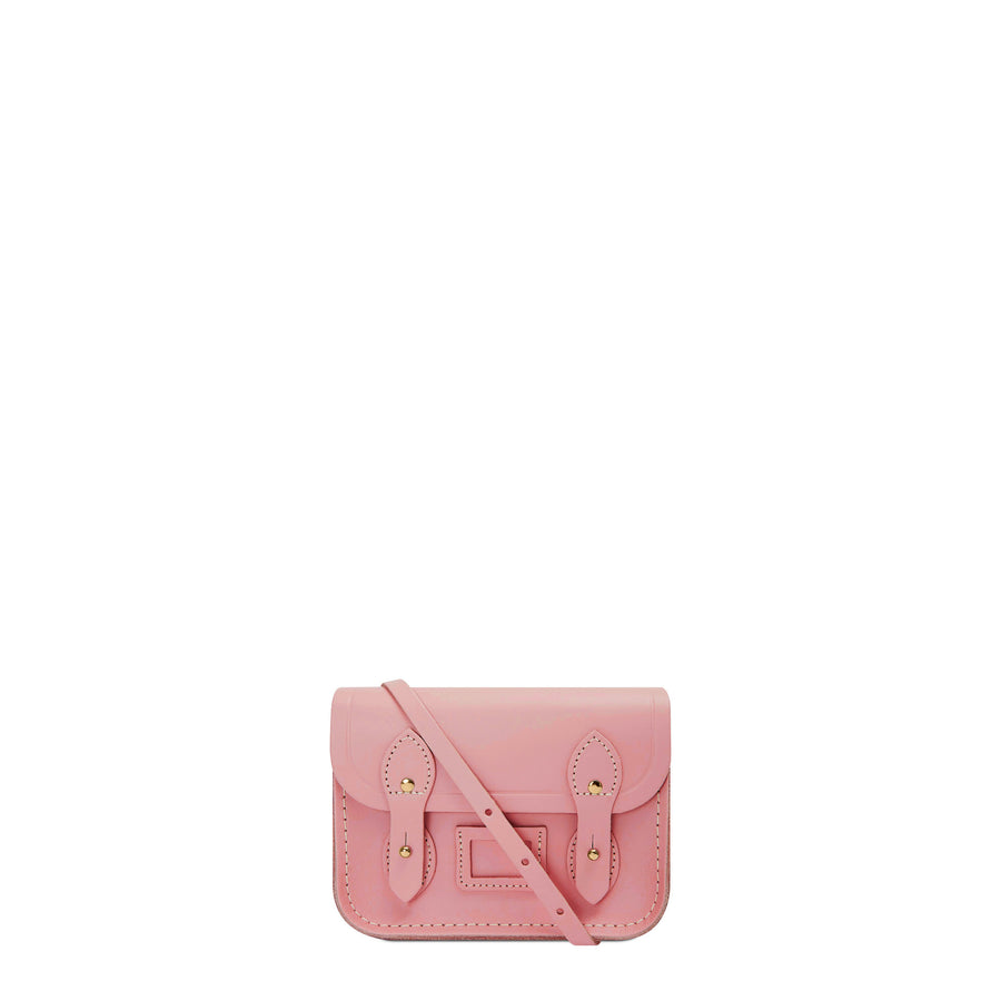 Tiny Satchel in Leather - Rambling Rose Matte