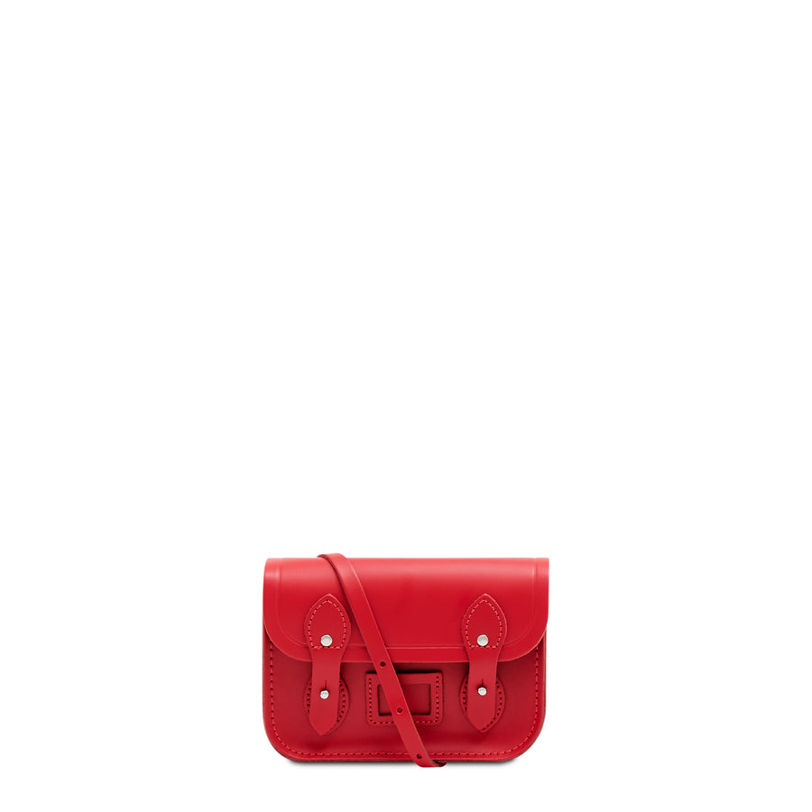 Tiny Satchel in Leather - Red Berry