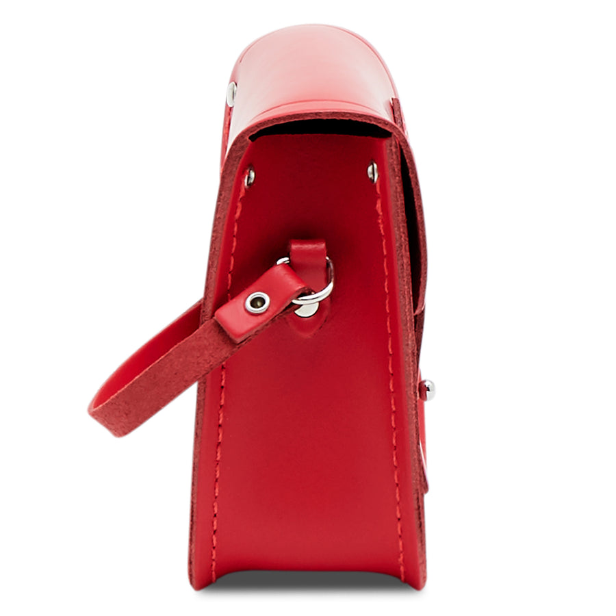 Red Leather Tiny Cambridge Satchel Cross Body Bag