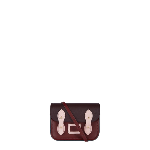 Tiny Satchel in Leather - Oxblood, Juniper and Dusky Rose