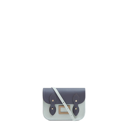 Tiny Satchel in Leather - Storm Matte, Sea Foam Matte & Sandstone | Women's Cross Body & Clutch Bag