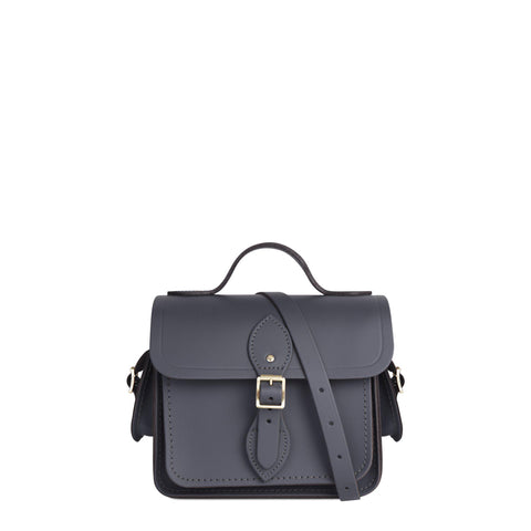 Traveller Bag with Side Pockets in Leather - Dapple Matte