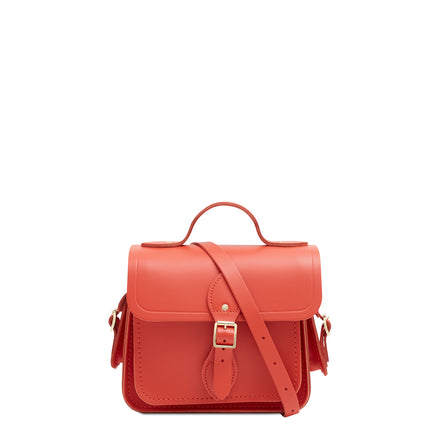 Traveller Bag with Side Pockets in Leather - Spice