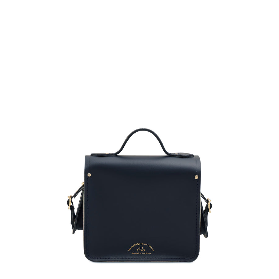 Navy Cambridge Satchel Leather Small Traveller Bag