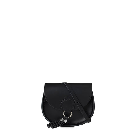 Mini Tassel Bag in Leather - Black | Cambridge Satchel
