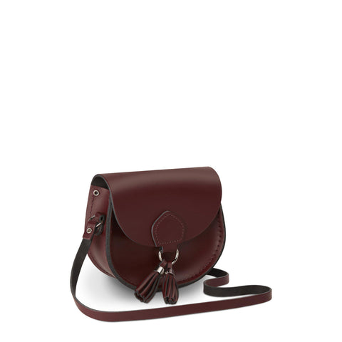 Mini Tassel Bag in Leather - Oxblood