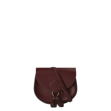 Mini Tassel Bag in Leather - Oxblood | Cambridge Satchel