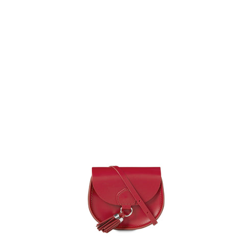Mini Tassel Bag in Leather - Crimson