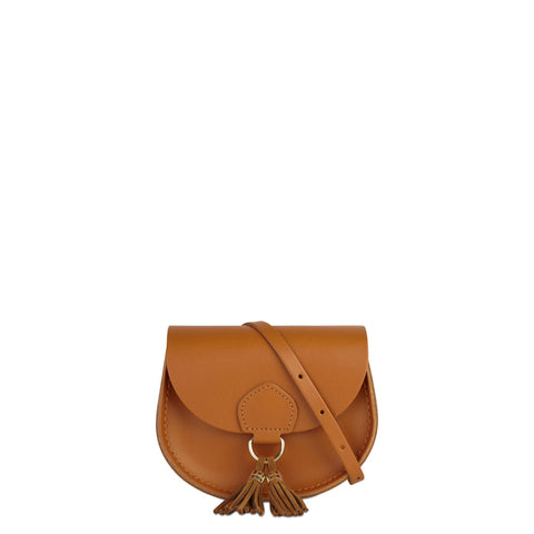 Mini Tassel Bag in Leather - Canyon Split & Vintage Suede | Cambridge Satchel