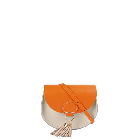 Mini Tassel Bag in Leather - Sunset & Clay