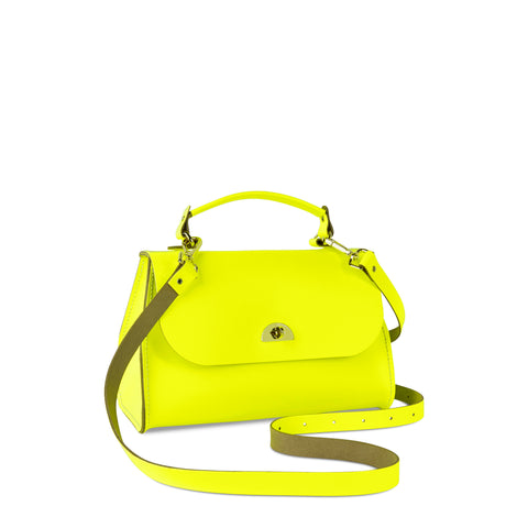 Daisy Bag in Leather - Fluoro Yellow