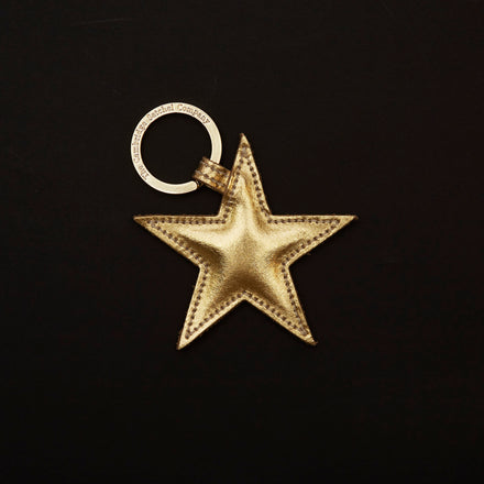 Star Curio in Leather - Gold Mirror