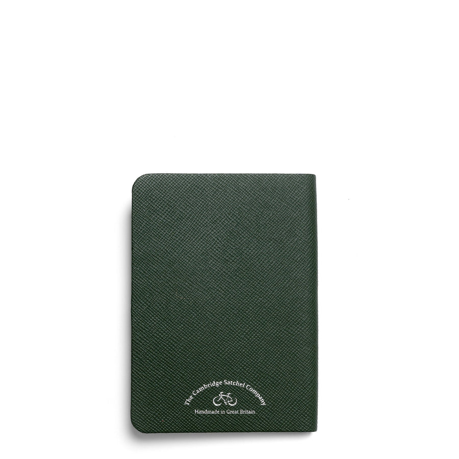 A6 Notebook in Leather - Racing Green Saffiano