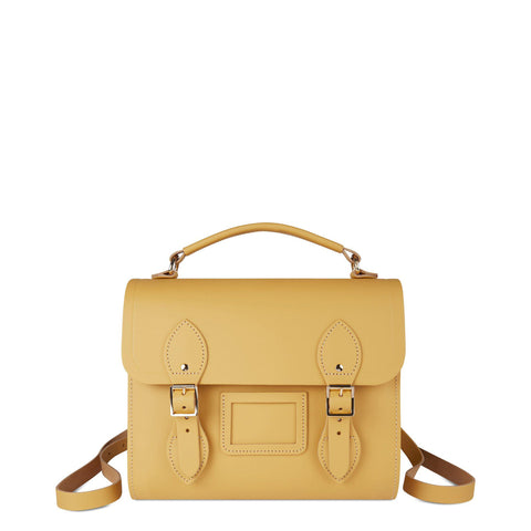 Barrel Backpack in Leather - Matte Indian Yellow