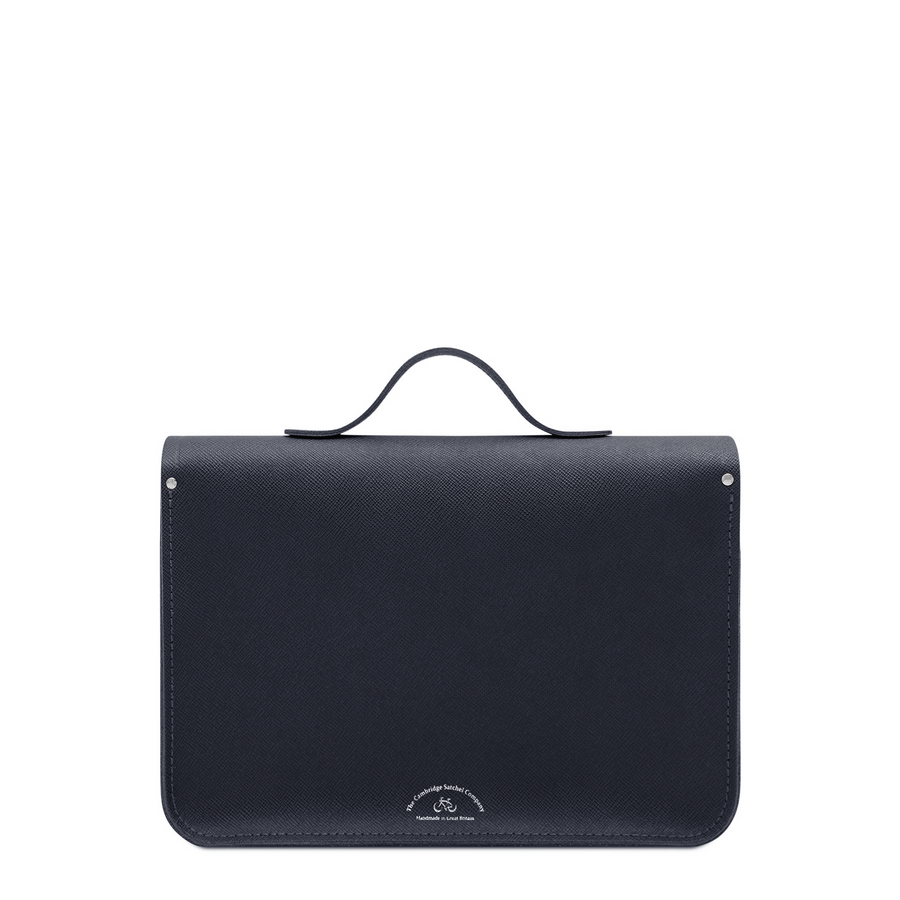 14 Inch Magnetic Batchel in Leather - Navy Saffiano