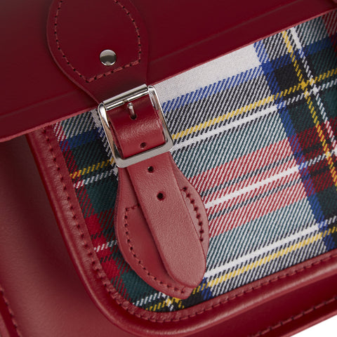 13 Inch Batchel with Magnetic Closure - Red & Red Tartan