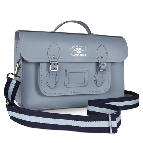 15 inch University of Cambridge Batchel in Leather - French Grey