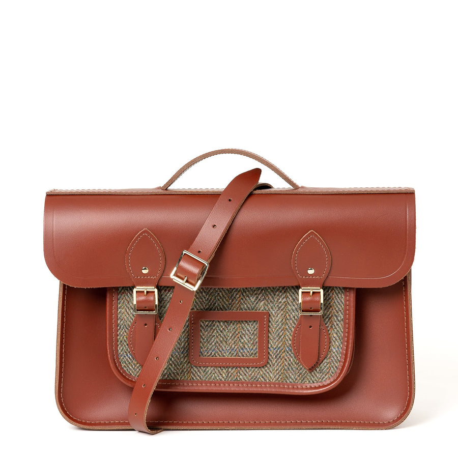 Brown Large Leather Satchel for Men and Women | Cambridge Satchel