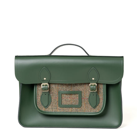 British Racing Green Leather Satchel for Men and Women | Cambridge Satchel