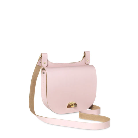 Small Conductors Bag in Leather - Peach Pink Patent