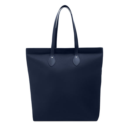 Large Canvas Tote - Navy Canvas & Navy Leather Trim