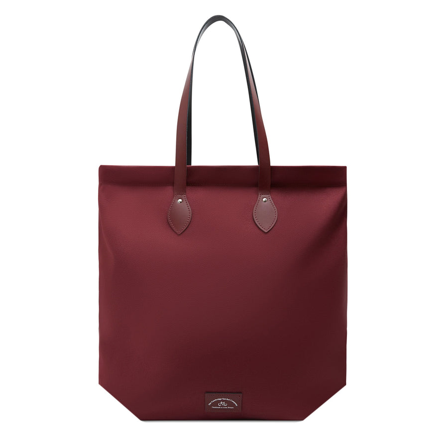 Market Bag - Oxblood Canvas with Oxblood Leather Trim