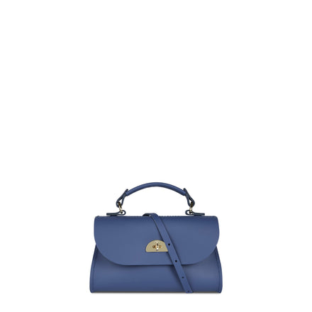 Mini Daisy Bag in Matte Leather - Italian Blue