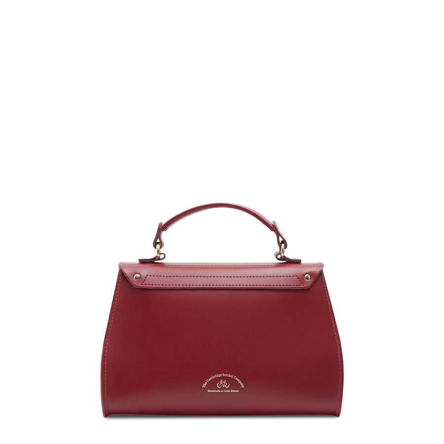 Daisy Bag in Leather - Rhubarb Red | Cambridge Satchel