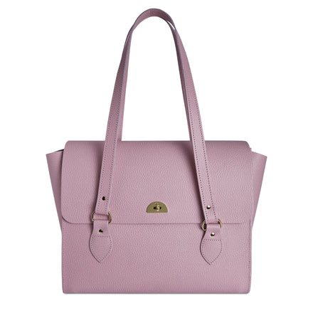 The Emily Tote in Celtic Grain- Light Lilac