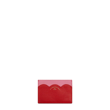 The Cambridge Satchel Company Grain Cloud Card Case in Leather - Pink / Red