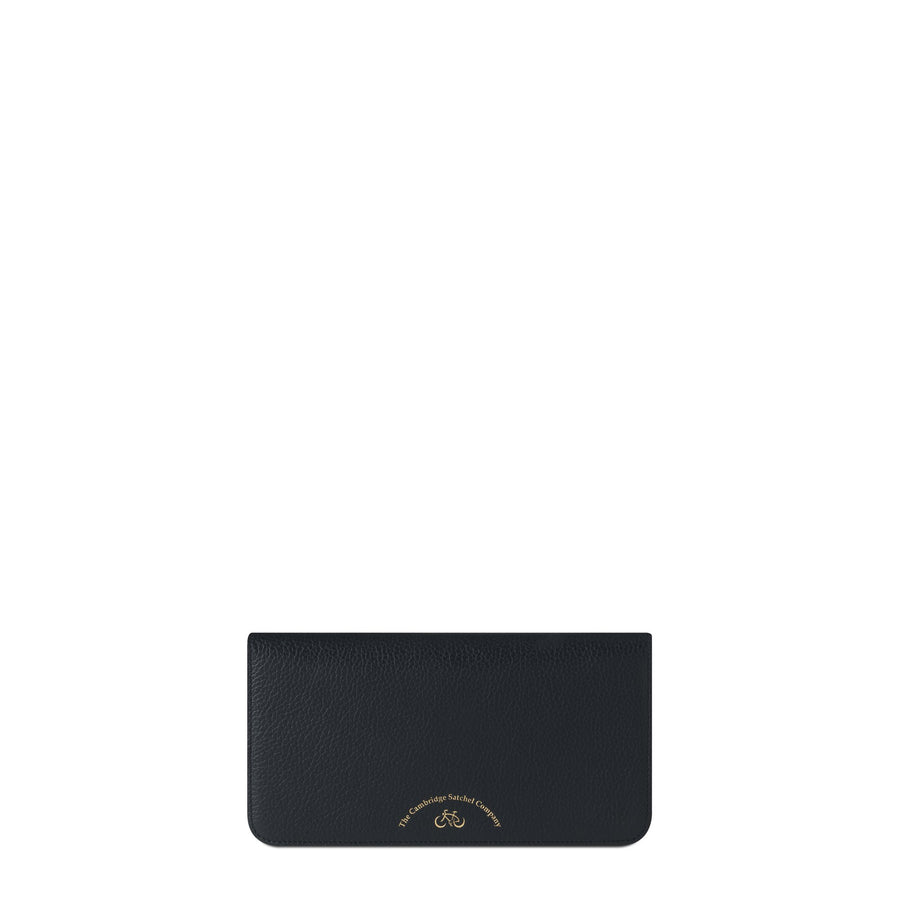 Large Cloud Purse with Card Slots in Grain Leather - Black