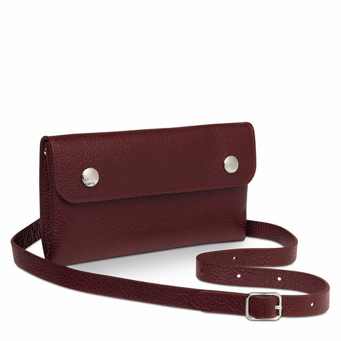 Peggy Purse in Grain Leather - Oxblood Grain