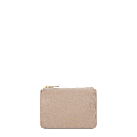 Zip Purse in Grain Leather - Soft Pink