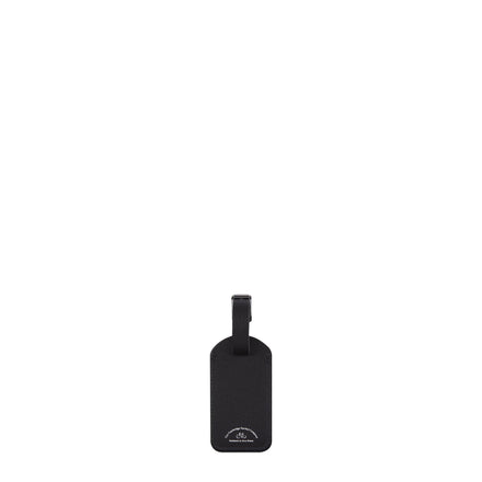Luggage Tag in Saffiano Leather - Black