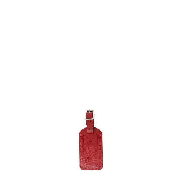 Luggage Tag In Saffiano Leather - Red | Cambridge Satchel