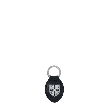 University of Cambridge Keyring Charm in Saffiano Leather - Navy