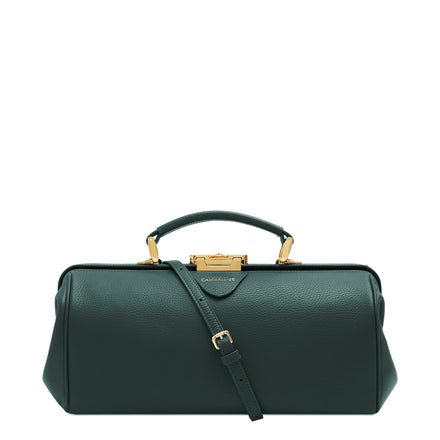 Doctors Bag - Ivy Celtic Grain | Women's Green Leather Work Bag