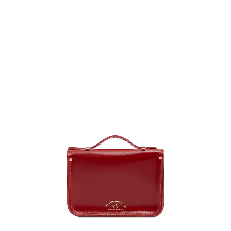 Magnetic Mini Satchel in Leather - Glamour