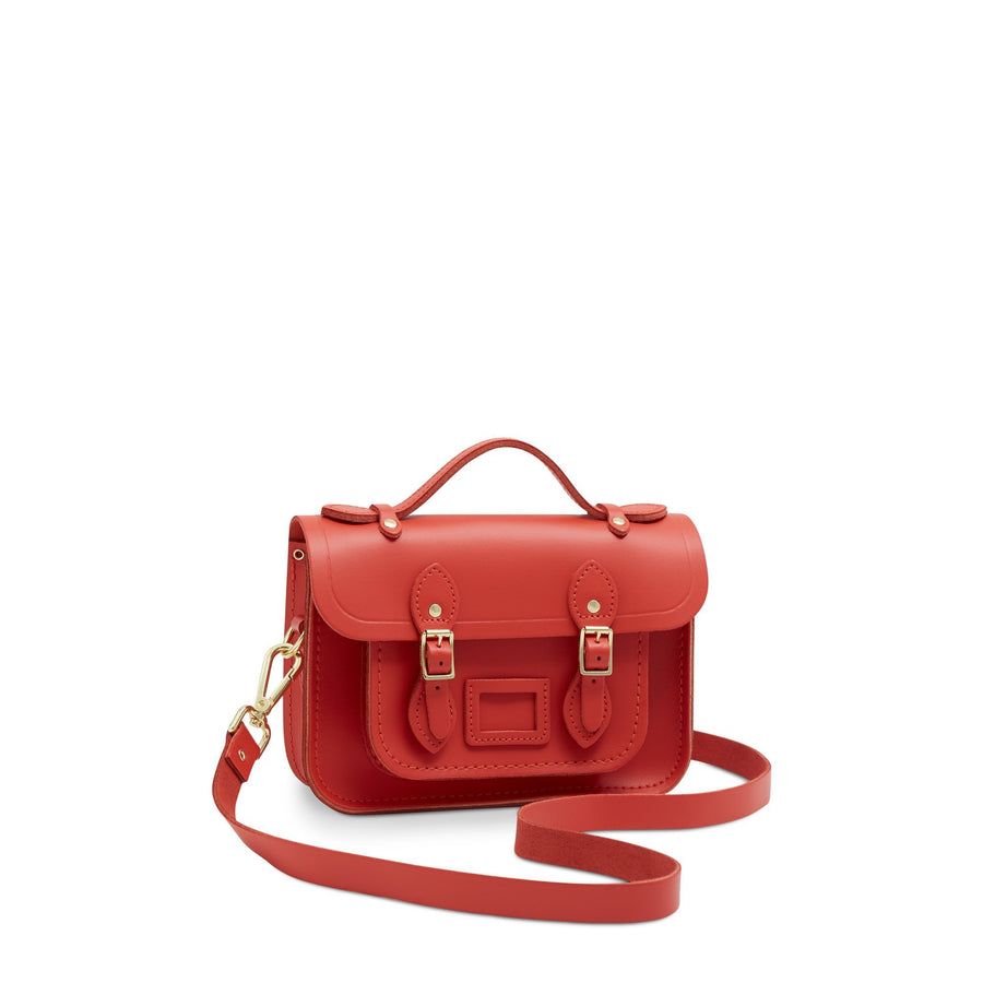 Magnetic Mini Satchel in Leather - Spice | Women's Handbag & Cross Body