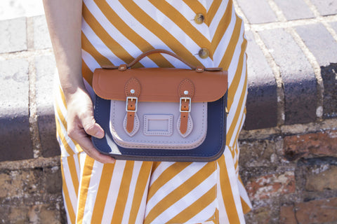 Magnetic Mini Satchel in Leather - Dapple Matte, Canyon and Dusk