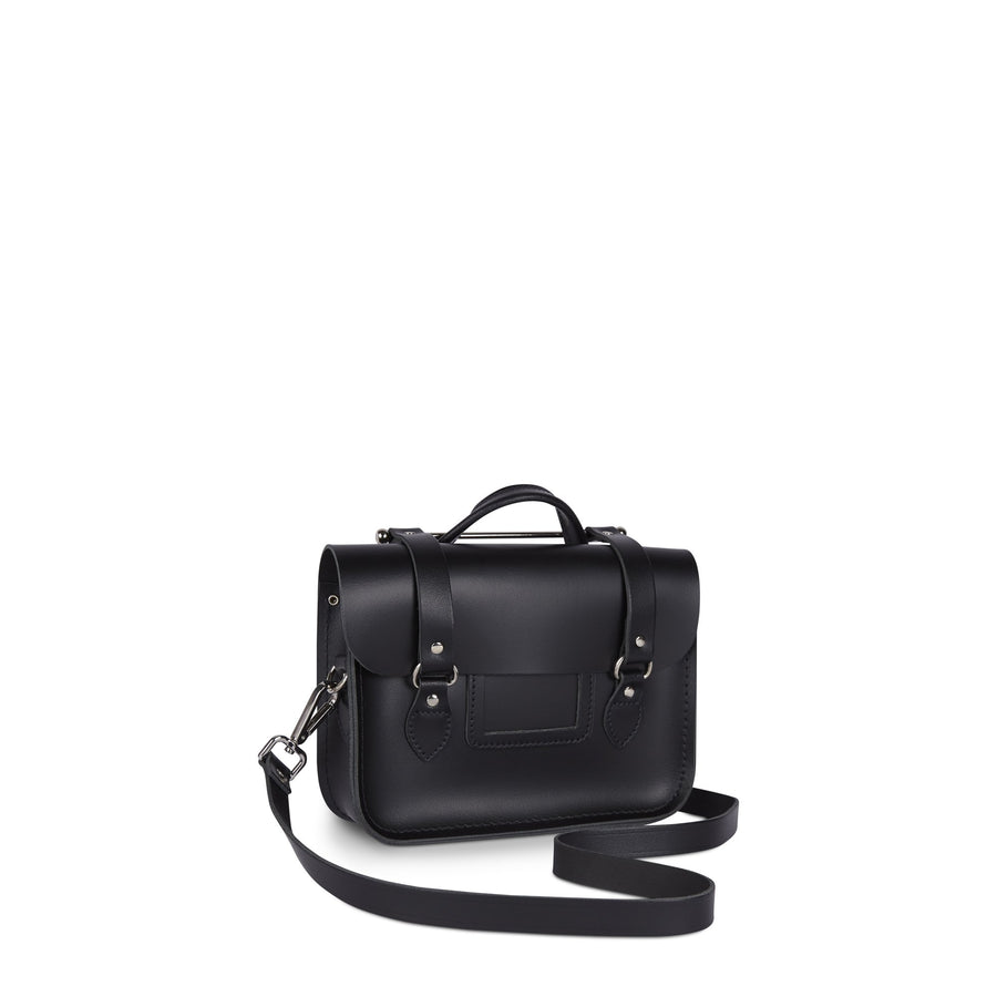 Melody Bag In Leather - Black | Cambridge Satchel