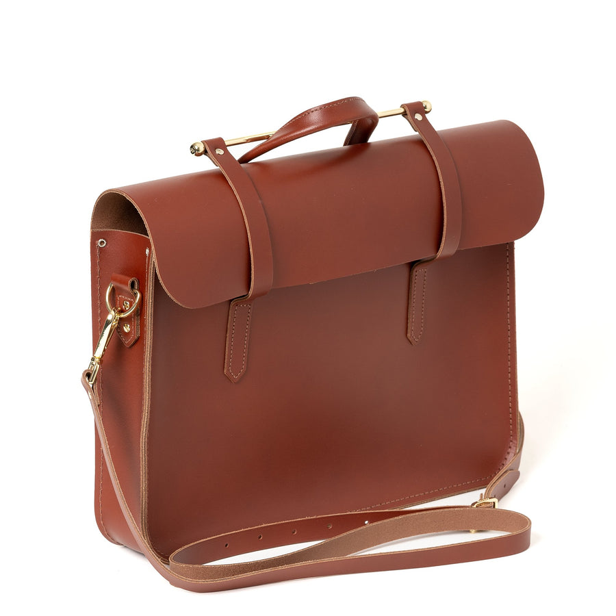 Brown Cambridge Satchel Leather Work Documents Bag