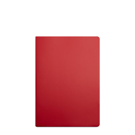 A4 Notebook in Leather - Red Berry