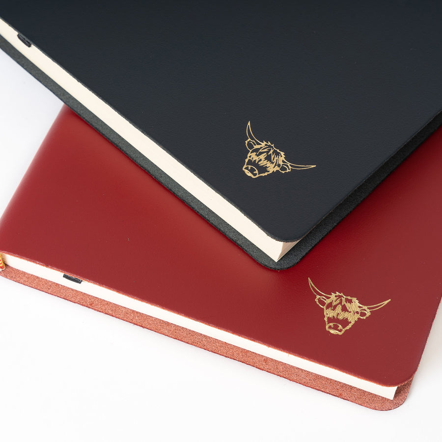 Year of the Ox Exclusive: A5 Notebook in Leather - Navy