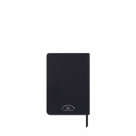 A5 Notebook in Leather - Navy Grain