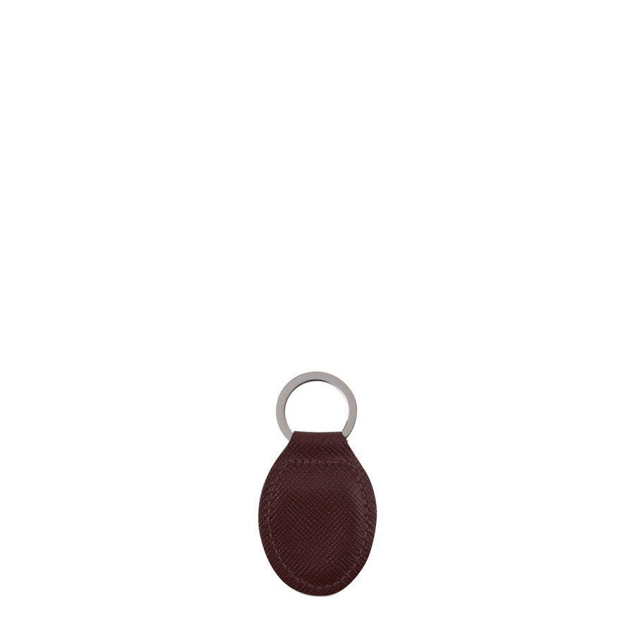 Keyring in Leather - Oxblood Saffiano | Cambridge Satchel