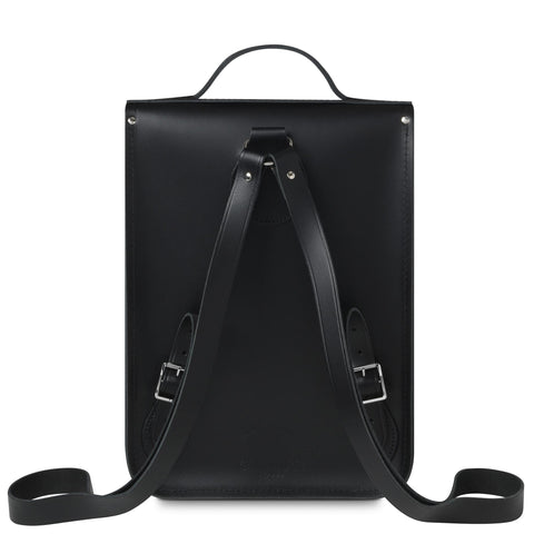 University of Cambridge Portrait Backpack in Leather - Black