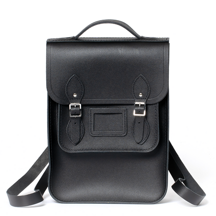 Portrait Backpack in Leather - Black Saffiano
