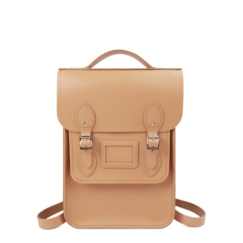 Portrait Backpack in Leather - Sand