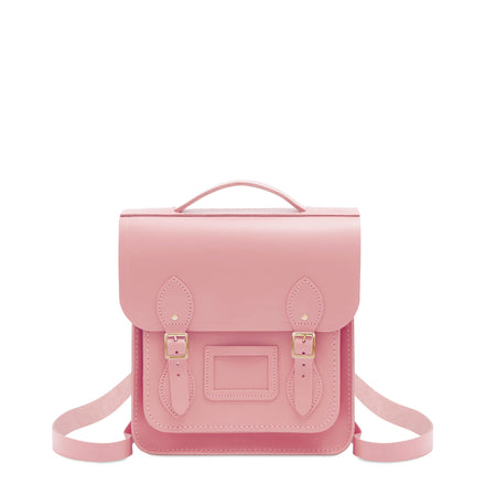 Small Portrait Backpack in Leather - Rambling Rose Matte